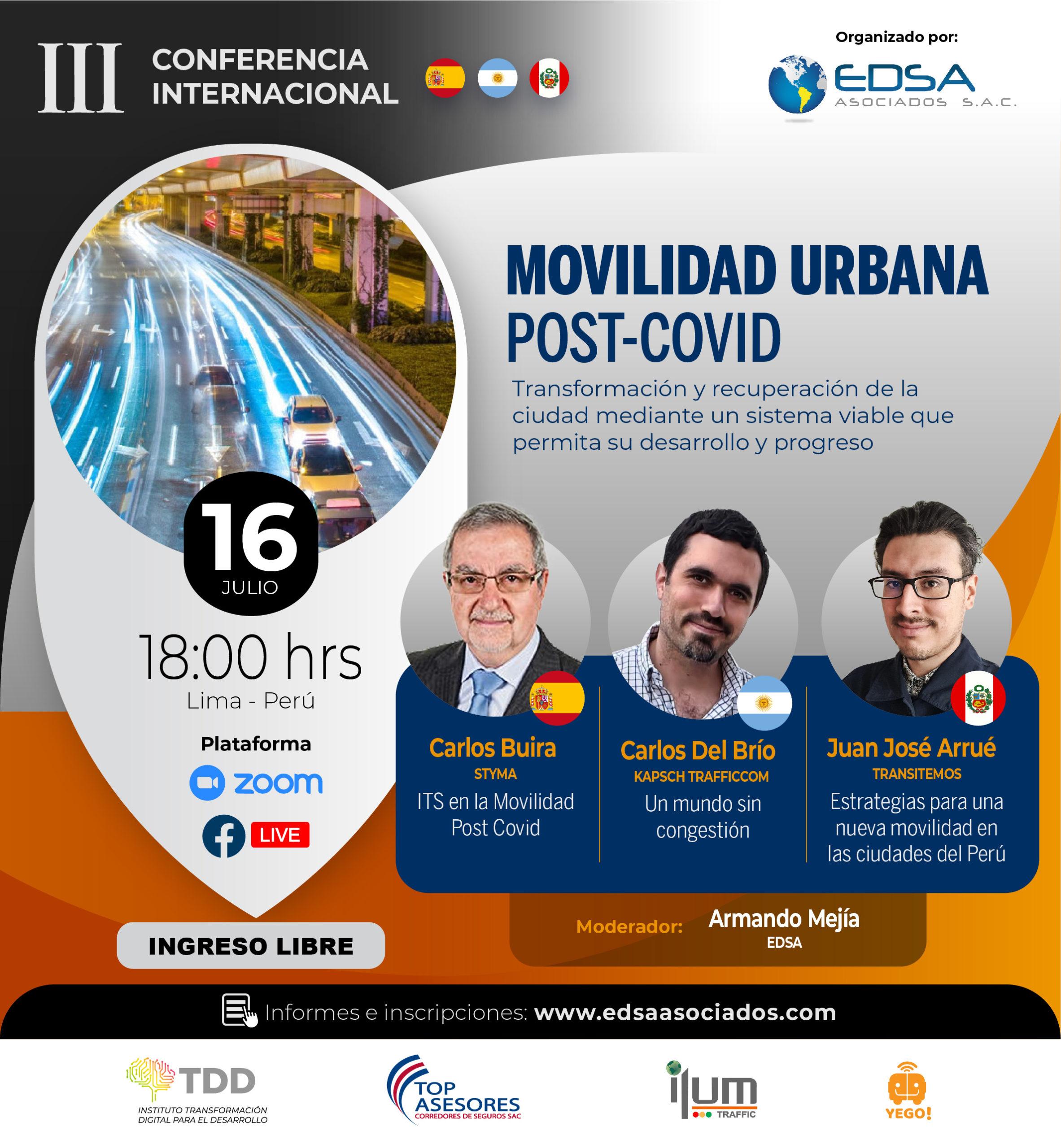 3ra Conferencia Movilidad Urbana Post-Covid